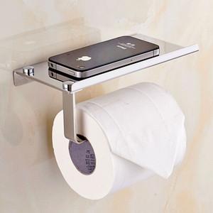 Toliet creativo titular de papel Mutifunctional baño Hardware organizador rollo de papel higiénico de acero inoxidable soporte para teléfono móvil