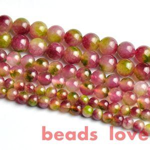 Envío gratis Piedra Natural Rosa Verde Jade Beads sueltos4 6 8 10 12mm DIY Pulsera Collar Joyas de piedras preciosas Fabricación de joyas F00275