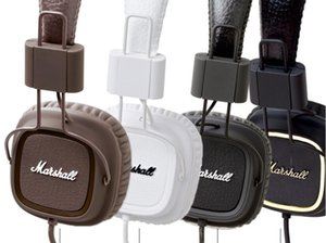 auriculares con micrófono Marshall Major Deep Bass DJ Auricular Hi-Fi de alta fidelidad auricular profesional de DJ del auricular del monitor