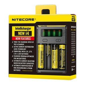 기존 Nitecore I2 I4 D2 D4 보편적 인 Intellicharger 전자 담배 용 충전기 18650 14500 16340 26650 다기능 충전기