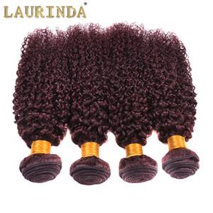 brasiliana malese peruviano mongolo ricci del Virgin dei capelli 4pcs sacco di nuovo stile Weave Curly 99j grado superiore vino rosso 99j Capelli