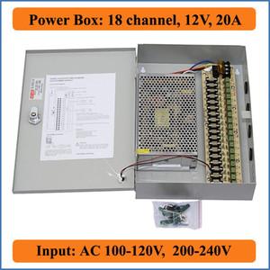 18-канальный DC12V 20A CCTV камеры коробка питания CCTV PTC распределенный импульсный блок питания для безопасности видеокамеры 18ch порт