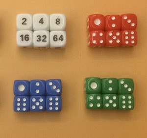 10mm Mini 6 Sided Acrylic Dice Color Dices Boson Decorative Accessories 3D Puzzle Dice Good Price High Quality #R5