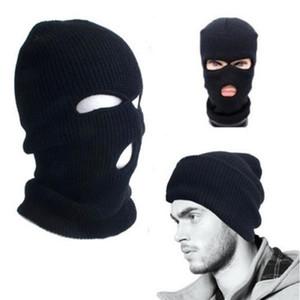 3 furos Máscara Facial Quente Beanie Inverno Snowboard Ski Hat Cap Wear Balaclava completa Tampa Máscara Facial OOA2985