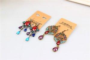 Random Vintage Mix 10 Dangle 20Pairs lot Silver Bronze Style Tibetan Gem Drop Earings Resin Earrings Rkcpx