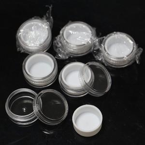 plastik kavanoz içinde beyaz astar dab balmumu 5ml şeffaf plastik konteyner konsantre oi bütan silikon astar ile plastik kavanoz