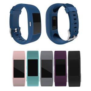Linhas de cor Pura de substituição Esportes Silicone Wrist Band Titular Pulseira Para Fitbit Charge 2 Pulseira Relógio de Pulso Design Mais Novo FC0072
