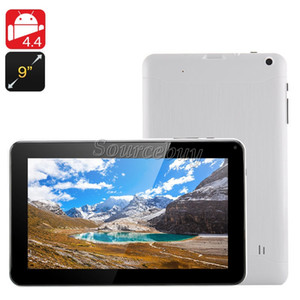 8 GB ROM 9 pollici A33 Allwinner Quad Core 1.5GHz Tablet PC Google Android 4.4 Bluetooth 512 MB RAM Dual Camera Wifi DHL gratuito