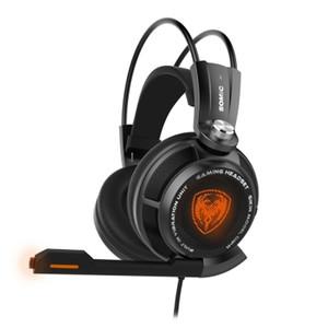 Orijinal Somic 7.1 Sanal Surround Ses USB Gaming Headset Titreşimli Glow Led Kafa Kulaklık Mic Ses Kontrolü ile + TB