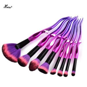Halu 8 / 10pcs sirène Yaksha Maquillage Pinceaux Ensemble Fondation Fard À Paupières Sirène Maquillage Pinceaux Mélange Pinceaux Cosmétiques Ensemble