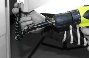 100 قطع الأسود 290 ملليمتر مرنة رمح بت ارشادية مفك بت حامل ربط رابط للالكترونيات الحفر السفينة بسرعة
