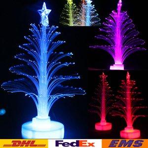 Renkli LED Noel Ağacı Fiber Optik Nightlight Tatil Parti Aydınlatma Dekorasyon Noel Noel Ağacı Çocuk Çocuk Hediye WX-C25