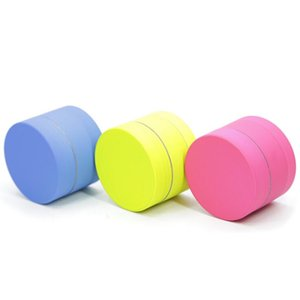New Grinder Silicone Coated Three Colors Optional 40MM Three Layers Metal Zinc Alloy Spice Tobacco Crusher Free Shipping