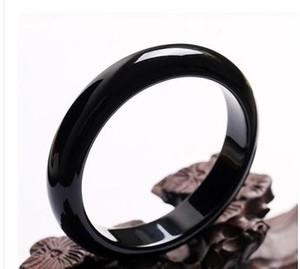 Brazil natürliche schwarze Achat Armband Hetian Jade Armband Gobi, Jade Armbänder der Durchmesser von 55mm-62mm White Jade Brac Kostenloser Versand
