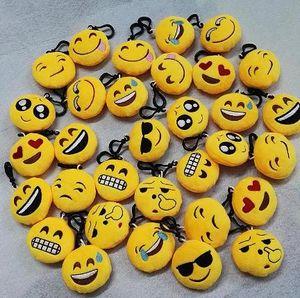 QQ Emoji Brinquedos Chaveiro seis centímetros Emoticons Smiley Pouco amarelo pingente Qq Plush Pendant