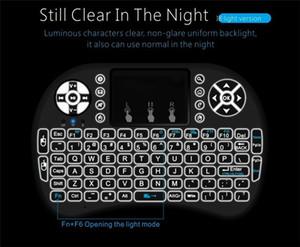 Rii I8 Smart Fly Air Mouse Дистанционная подсветка 2,4 ГГц Беспроводная Bluetooth-клавиатура Пульт дистанционного управления для Android Box Белый Черный