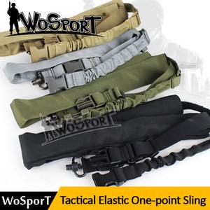 Tactique Un Point Sling Réglable En Nylon Arme Sling Bungee Fusil Caméra Sling Chasse Pistolet Accessoires
