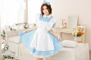 Livraison gratuite COSPLAY Alice au pays des merveilles COS Japonais anime vêtements Costumes Super cute Maid Maid service