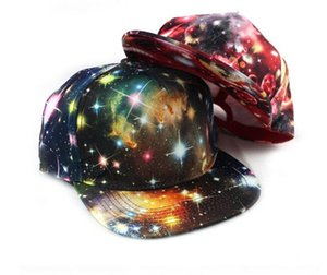 30pcs fashion Korean Galaxy Pattern Space Print Snapback Style Women Men Hats Unisex Fashion Baseball Hip Hop Cap D765
