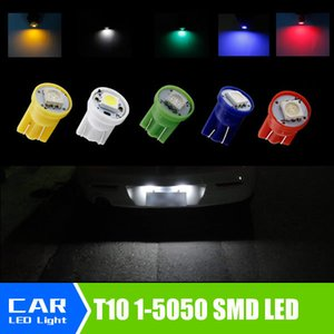 T10 194 168 W5W SMD 1 5050-Led Luz de Sinalização Traseira Branco Amarelo / Vermelho / Azul / Verde Lâmpadas de Carro