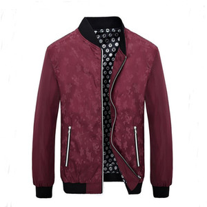 Wholesale- Men's High-end Fashion Temperament College Baseball Jackets Blazer Masculino Slim Fit  Clothing Mens Jackets And Coats