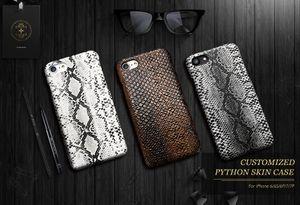 3D Yılan Cilt Kılıf iphone 7 7 Artı Ultra Ince PU Deri + Sert PC Lüks Vintage Kapak iphone 7 Artı Telefon Kılıfı