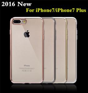 Clear Case de haute qualité pour iPhone 7 TPU ultra mince cristal en caoutchouc placage galvanoplastie TPU Téléphone mobile Case Pour iPhone7 iPhone5 / 6 / 6plus