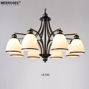 New Iron Wrought Chandelier Light Gold Lustri Lampada a sospensione per Living Bedroom Sospensione Drop Lighting