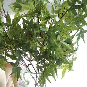 Simulação flor folhas United State maple leaf casamento planta artificial parede casa fundo flor parede