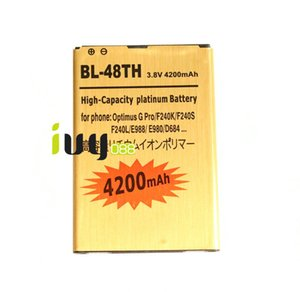 4200mAh BL-ال48 الذهب استبدال البطارية لشركة إل جي أوبتيموس G بطاريات برو F240K F240S F240L E988 E980 E985 E986 D684 F240 F310 E940 L-04E