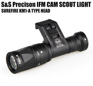 Tactical IFM Cam Scout Light Gun Light Hard Anodizing Alluminio QD Cree LED Torcia a doppia uscita Nero