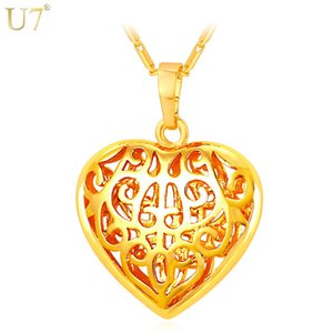 Новая новая мода для женщин сердца кулон кулон ожерелье оптом 18k настоящие позолоченные полые женщины подарок модный сердечный ювелирные изделия P824
