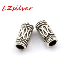 MIC 500PCS Antique silver Zinc Alloy Bali Style Wire Curved Tube Spacer Bead 3mm Hole 5x10mm DIY Jewelry D16