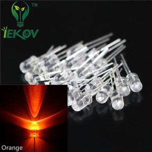 5000pcs / lot hohe Qualität 5MM runde Oberseite orange / Amber LED 5mm ultra helle lichtemittierende Dioden LED elektronische Bauelemente Großverkauf