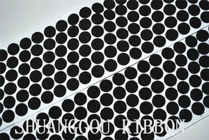 15mm Diameters adhesive coins,1000sets , Adhesive round hook and loop.Sticky Backing self fastening Dots.black H210925
