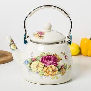 3.3L enamel kettle kettle jug Chinese medicine pot electromagnetic oven gas general with tea bag mail