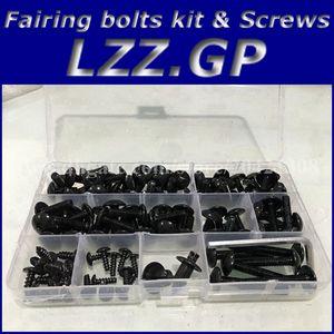 طقم براغي ملولبة لكاواساكي NINJA ZX9R 1994 1995 1996 1997 ZX 9R 94 95 96 97 ZX-9R fairing screw screws black silver