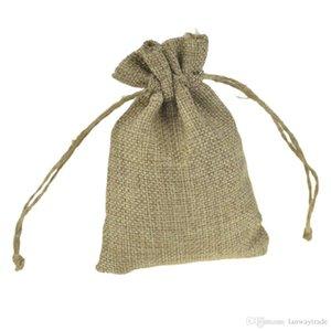 مجوهرات رث فو الصغيرة هسايان هدية الخيش صالح مع الجوت 9x12cm الحقائب ل bomboniere أكياس ريفي الرباط أنيقة القهوة فول الأربعاء