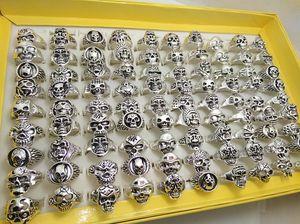 Wholesale Bulk Lot 100 шт. Стили Топ микс черепные кольца скелет ювелирные изделия мужская подарочная вечеринка Преимущества Мужчины Biker Rings Man Jewelry Новый