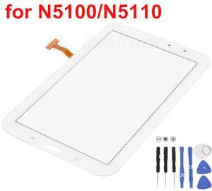 Test için Geçti Dokunmatik Ekran Digitizer Cam Fit Samsung Galaxy Not 8 N5100 VS N5110 WiFi Beyaz Siyah Ücretsiz kargo