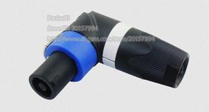 고품질 90도 각진 고급 전문 오디오 4 핀 남성 플러그 커넥터 오디오 앰프 Canon Ohm Head / 무료 배송 / 1PCS