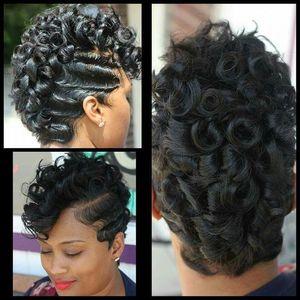 Las mujeres rizan el cordón con la peluca de pelo del bebé Peluca sintética del frente del cordón Resistente al calor Afro Kinky peluca rizada rizada barata para las mujeres negras africanas