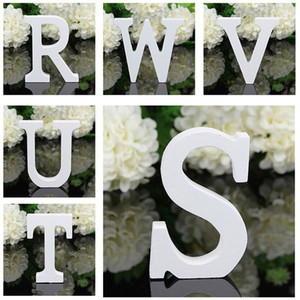 hot sale 8x5x1.2cm New A-Z Wooden Wood Letters Alphabet Word Free Standing Wedding Party Home Decoration