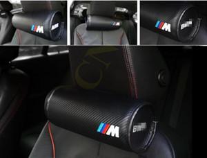 자동차 BMW M 가죽 목 베개 슈퍼 소프트 메모리 폼 자동차 시트 커버 헤드 목 나머지 쿠션 머리 받침 베개 M의 성능을