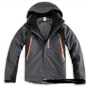 uomo primavera inverno 3in1 rimovibile due pezzi impermeabile all'aperto arrampicata alpinismo outing giacca giacca per il tempo libero