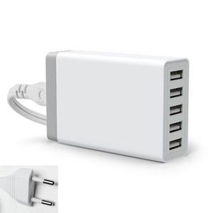 5 porta parede adaptador de carregador de casa 40 watt 5 v 8a ue eua uk plugue ac à estação de tomada de energia usb para o telefone móvel de boa qualidade