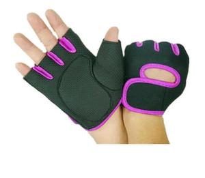 Открытый спорт Велоспорт защитные перчатки Гель против скольжения Велоспорт защитный механизм ударопрочные кастрировать Половина Finger перчатки тяжелой атлетики перчатки
