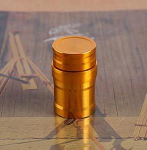 Livraison gratuite ----- Lampe à alcool en acier inoxydable mini, Nouveau métal Mini trompette avec lampe à base d'alcool de coton, Couleur aléatoire