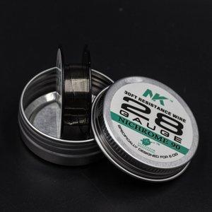 Sheen yüksek saf Ni90 30ft 28G tel Nikel krom 90 direnç tel vape mod elektronik sigara için önceden oluşturulmuş bobin
