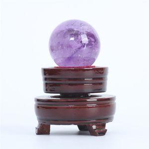 HJT 100g Atacado Natural Ametista Esfera Gemstone esfera / esfera de cura ametista para venda Casa Decorações pequena bola de cristal